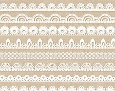 Border borders pack digital. Banner clipart lace
