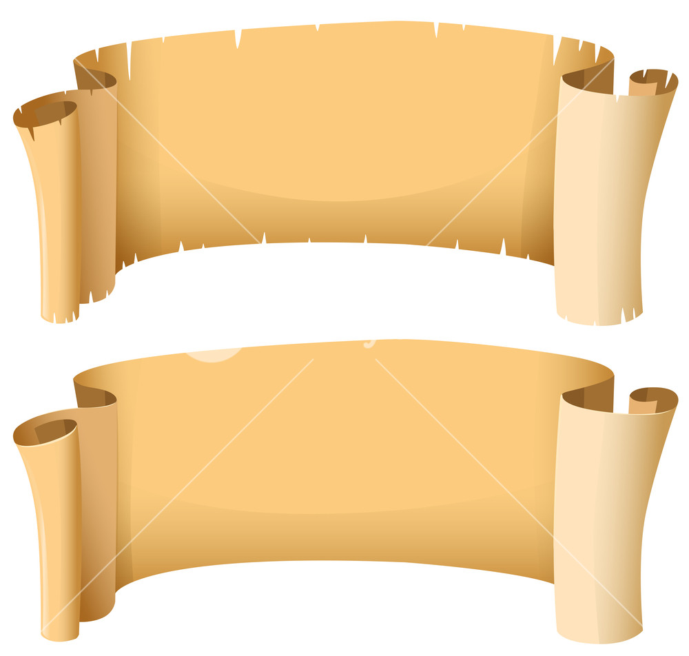 Banner clipart medieval. Banners in two designs