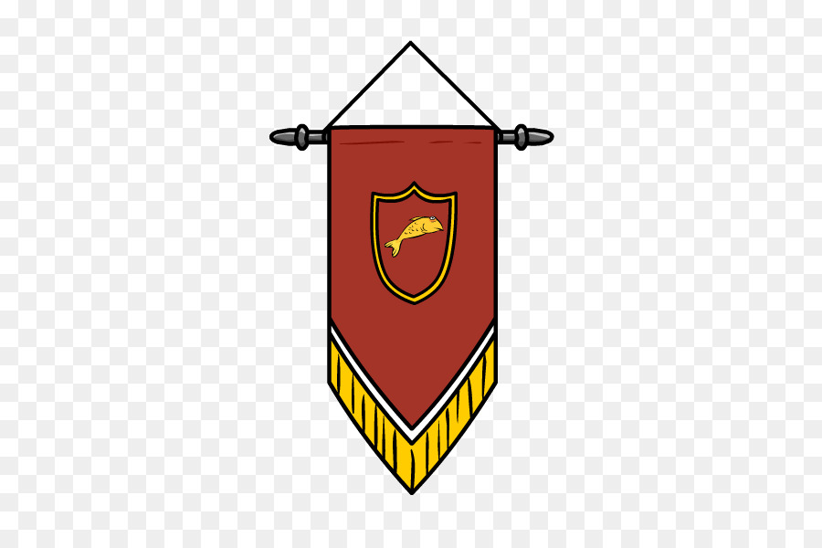 Middle ages flag pennon. Banner clipart medieval