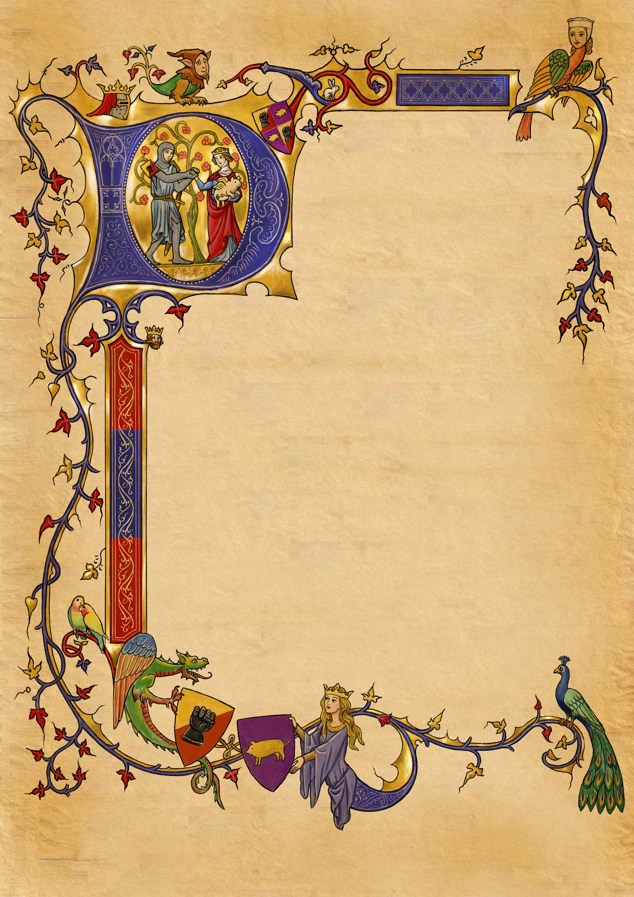Banner clipart medieval. Illuminated border look at