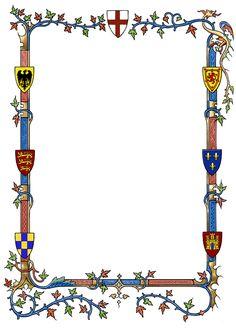 Printable free gif jpg. Border clipart medieval