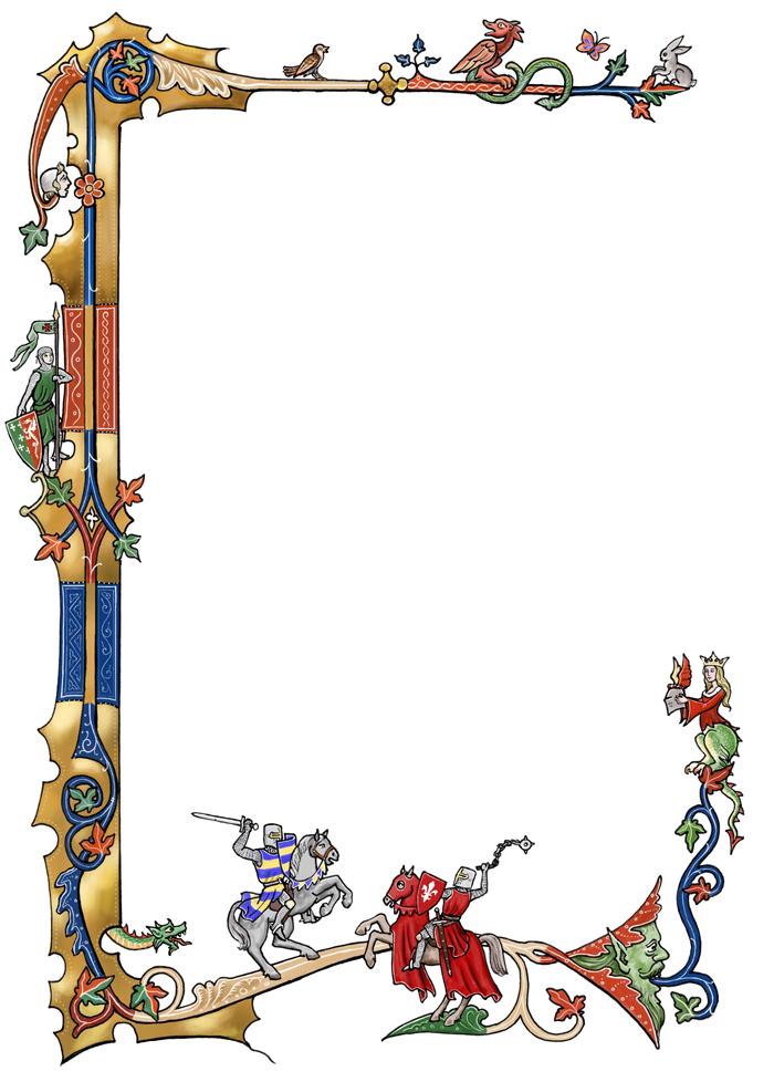 Free border designs download. Banner clipart medieval