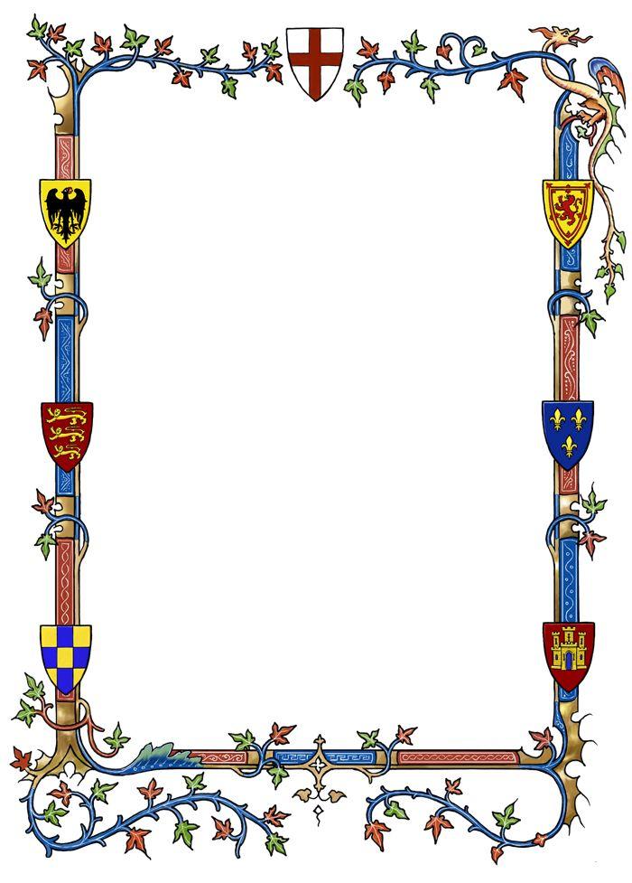 Border clipart medieval. Free designs download clip