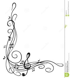 Musical notes portrait blank. Border clipart music