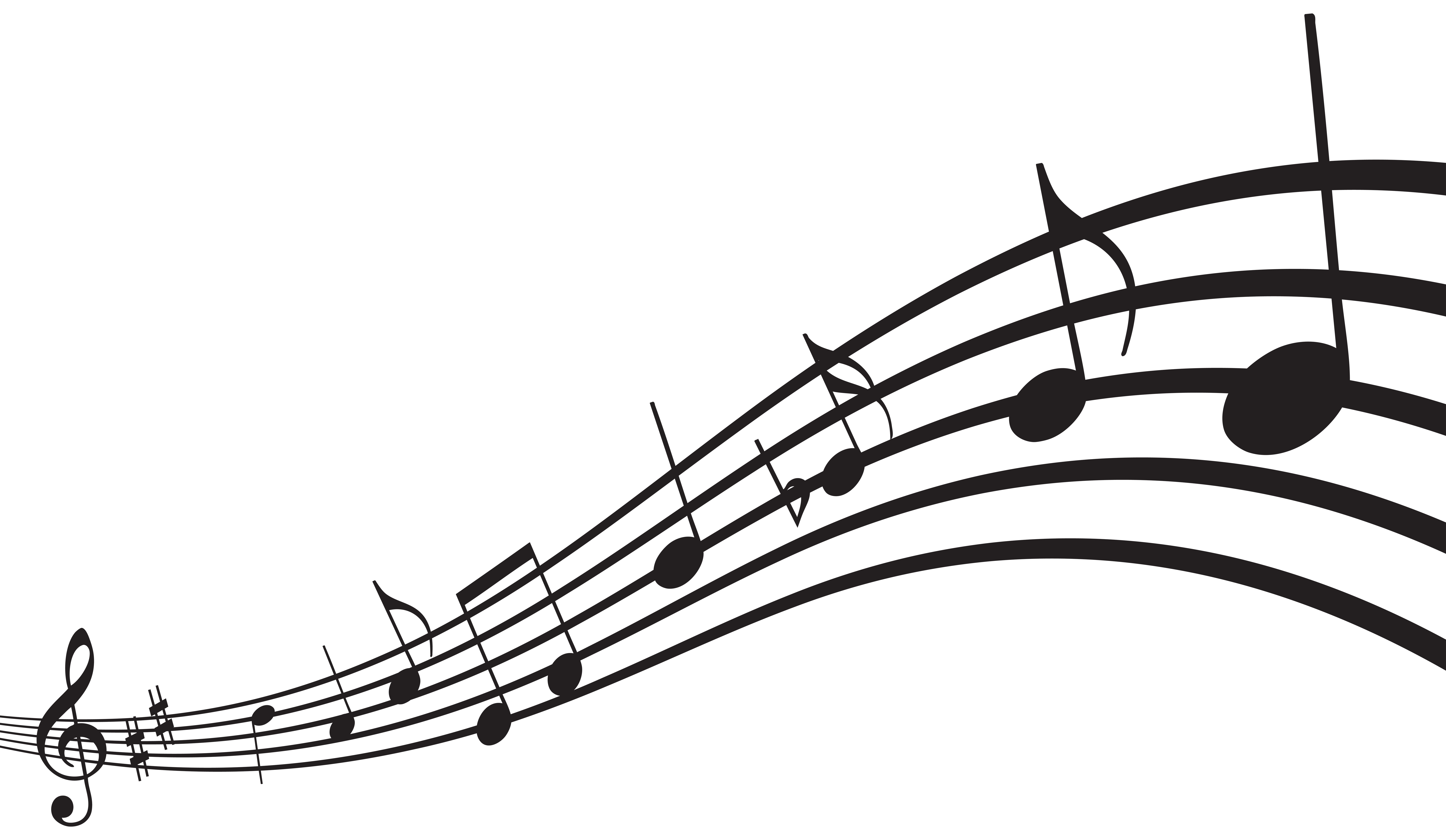 Music clipart banner. Best free notes clip