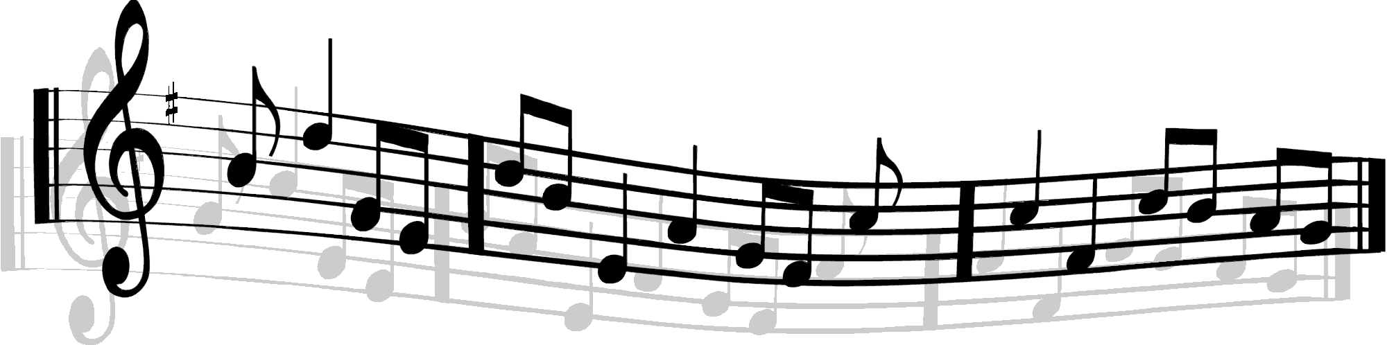 Music staff panda free. Musical clipart banner