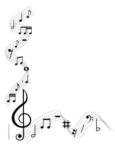 Musical notes portrait blank. Banners clipart music
