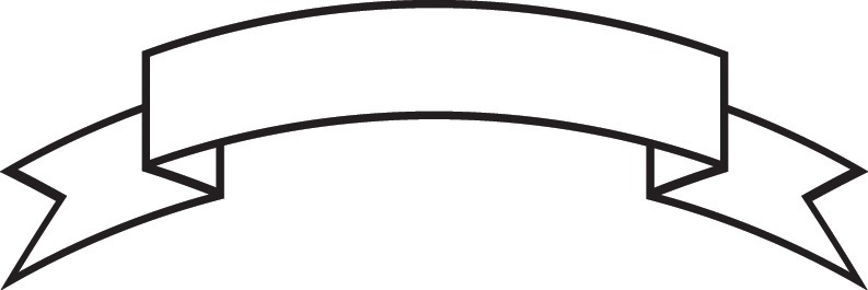 Blank ribbon banner incep. Banners clipart outline
