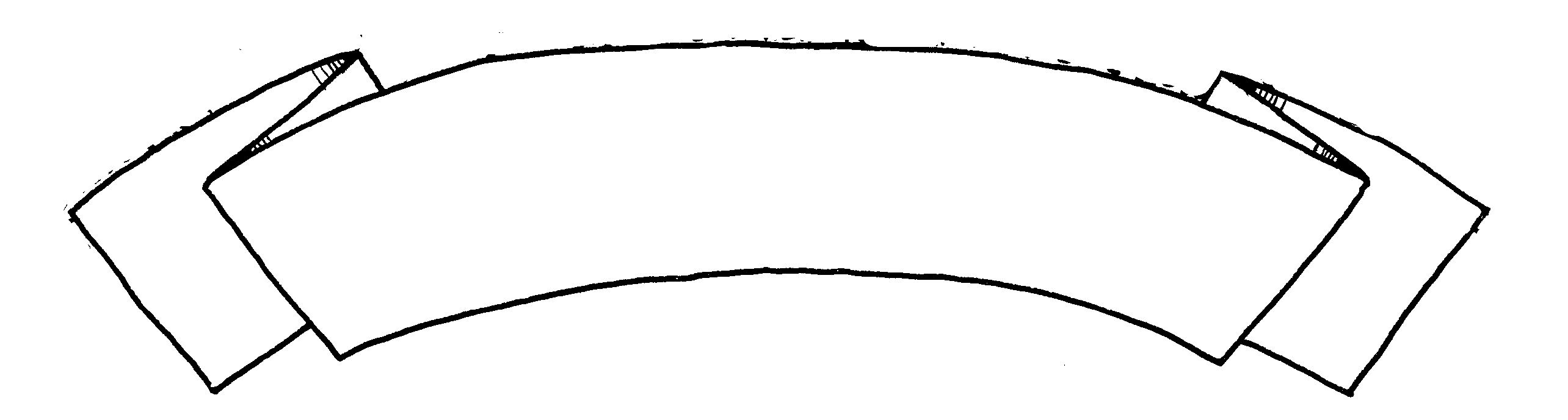 Free outline blank banner. Banners clipart fancy