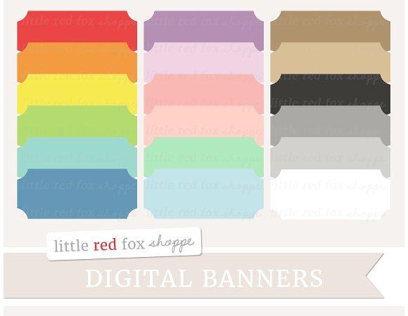 Illustrations creative market . Banner clipart rectangle