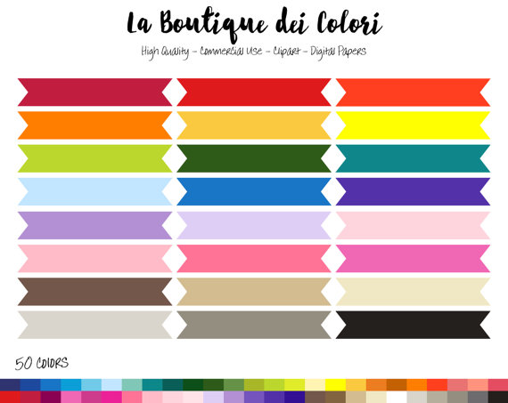 rainbow ribbon banners. Banner clipart rectangle