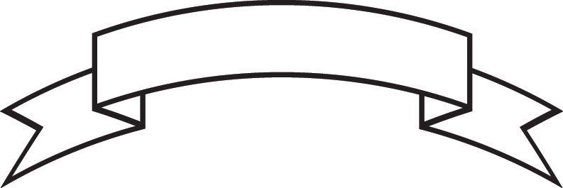 Banner clip art vector. White ribbon clipart banners