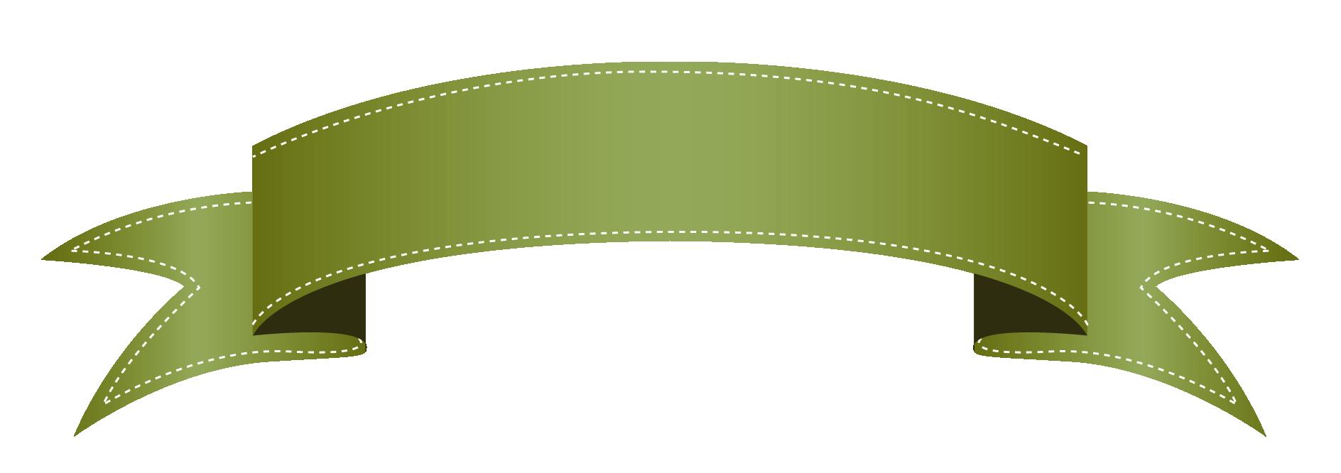 Green ribbon . Clipart free banner