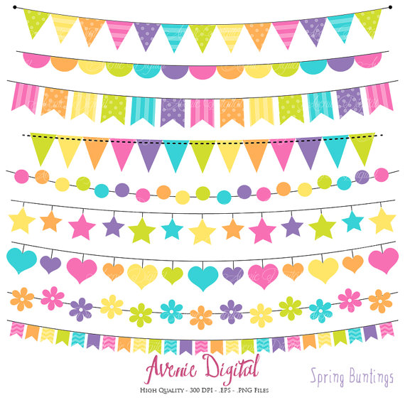 Bunting printable rainbow banners. Banner clipart scrapbook