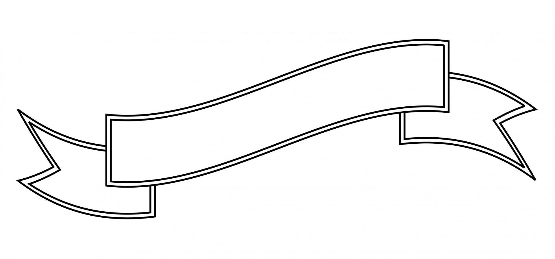 Blank clip art outline. Banner clipart scroll