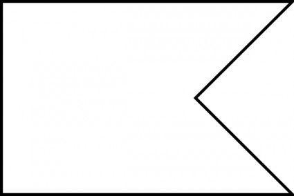Flag shape swallowtail clip. Pennant clipart