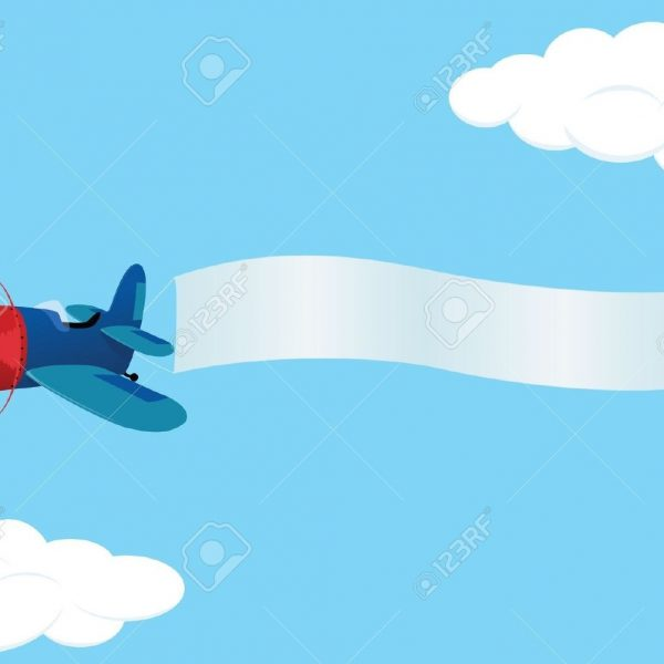 Banners clipart sky. Airplane banner plane clipartfest