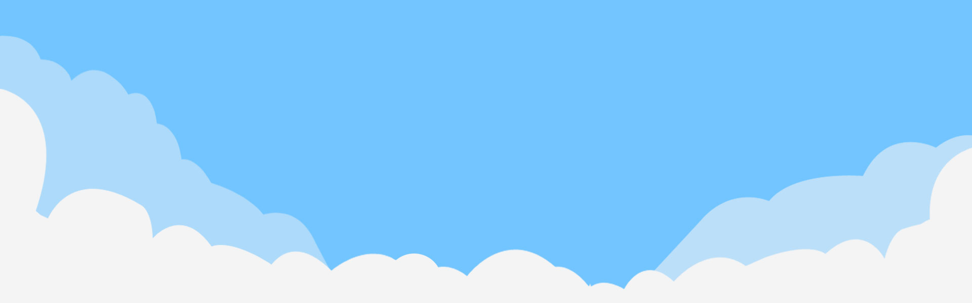 Clouds clipart banner. Clear blue sky white