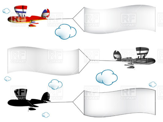 . Banners clipart sky