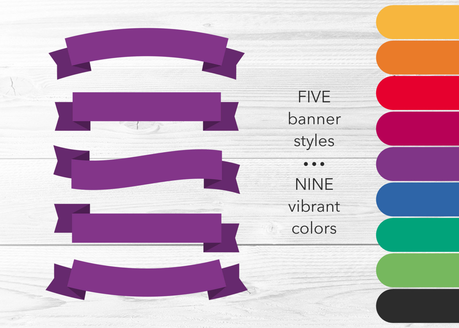 Banner clipart solid. Clip art pieces bright