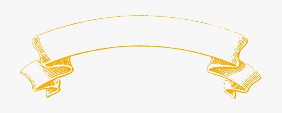 Golden ribbon png file. Banner clipart transparent background