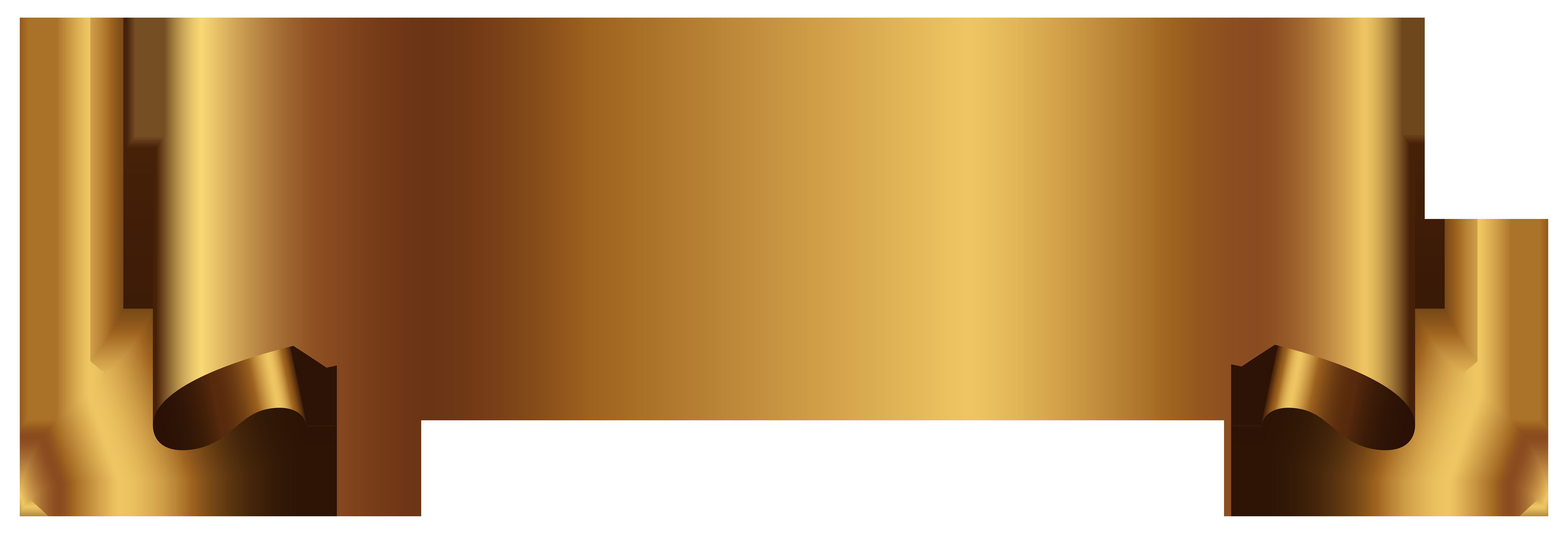 Clipart banner. Golden transparent png clip