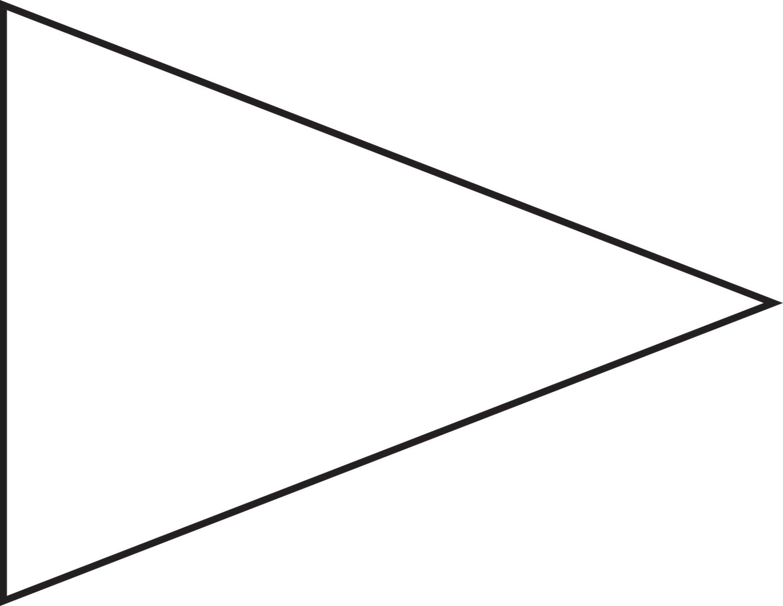 Pennant clipart. Pin triangle flag outline