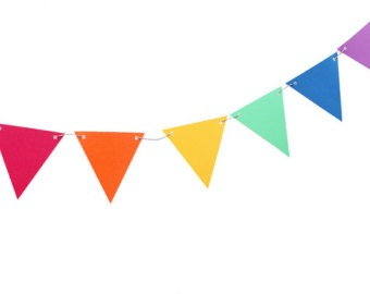 Banner clipart triangle. Rainbow pencil and in