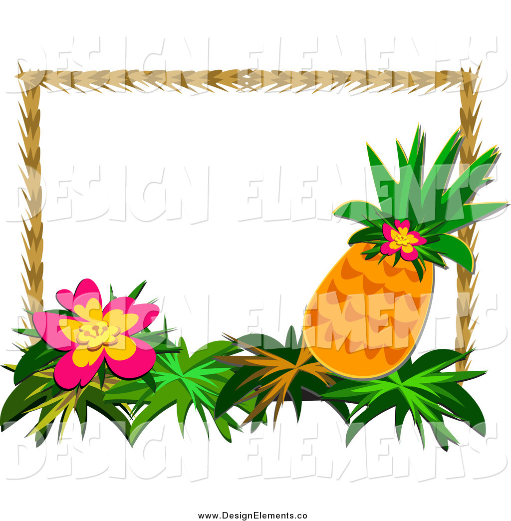 Banner clipart tropical. Pineapple border free