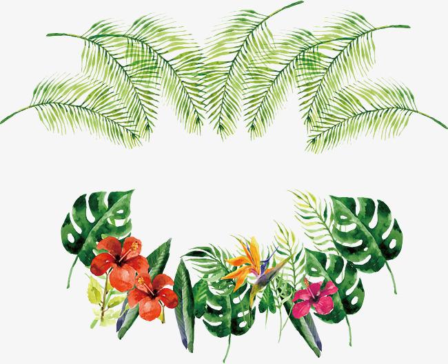 Banner clipart tropical. Watercolor bottle border vector