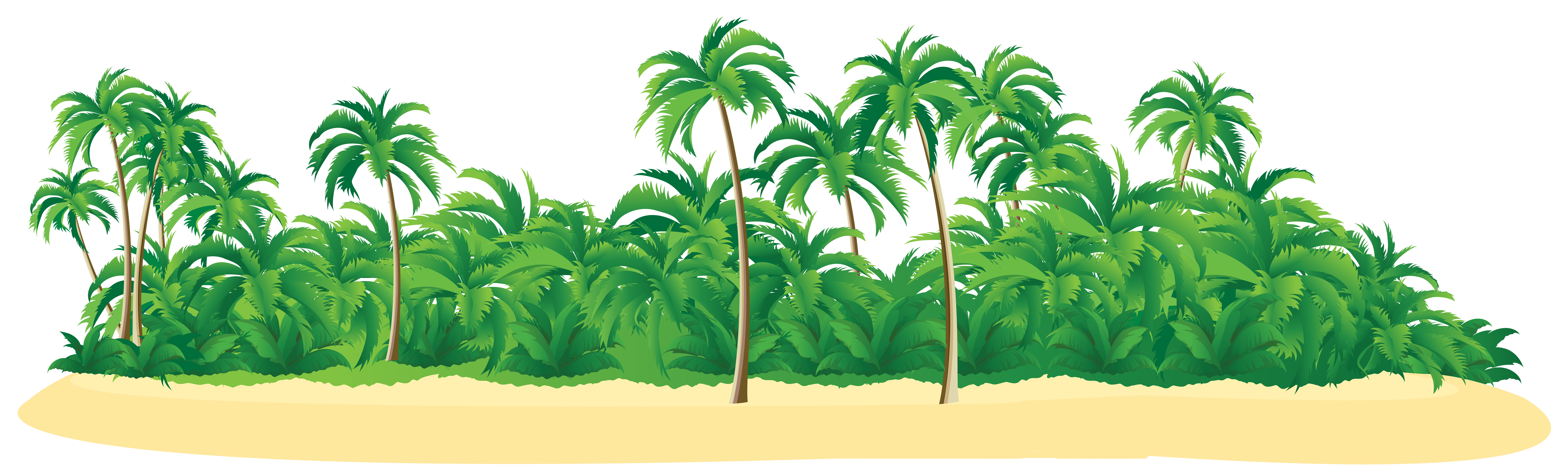 Summer island with palm. Tropical border png