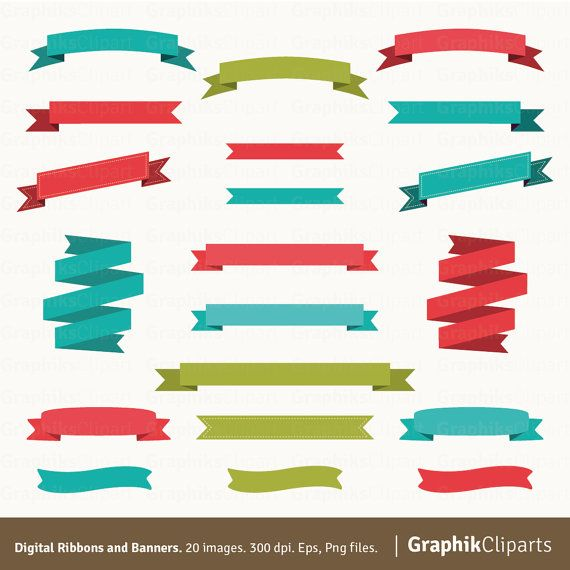 Digital ribbons banners and. Banner clipart vector