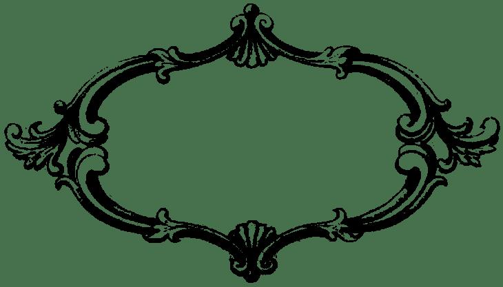 Banner frame png. Antique transparent stickpng