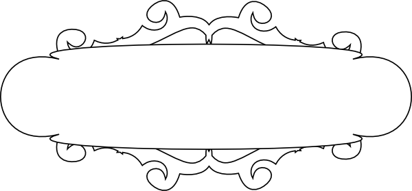 Banner vector black and white png.  clip library huge