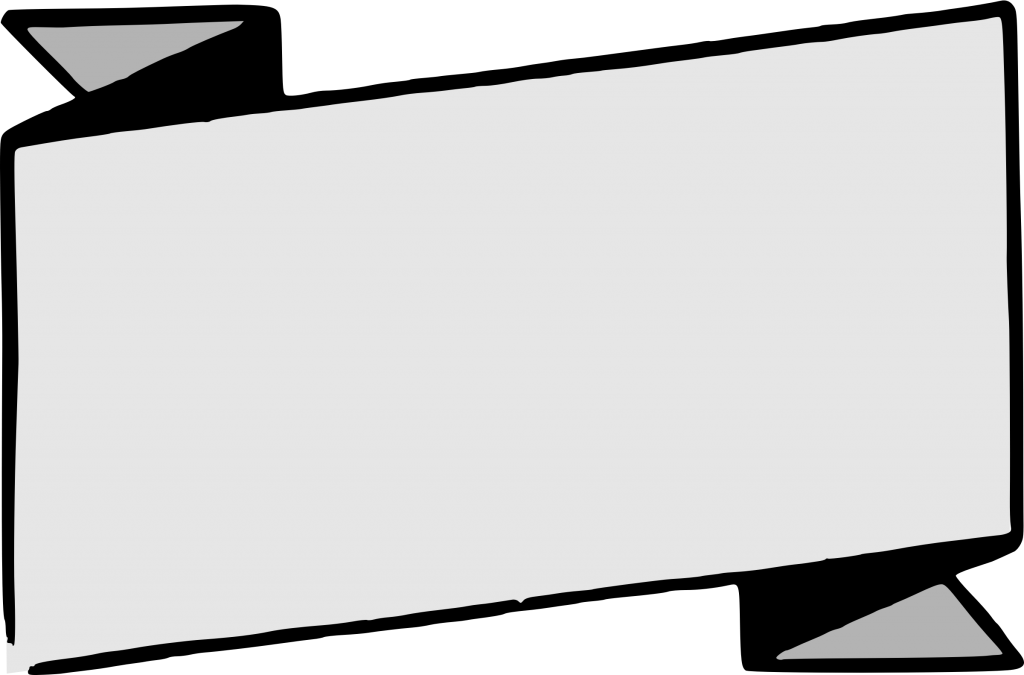 Banner vector black and white png. Transparent image peoplepng com