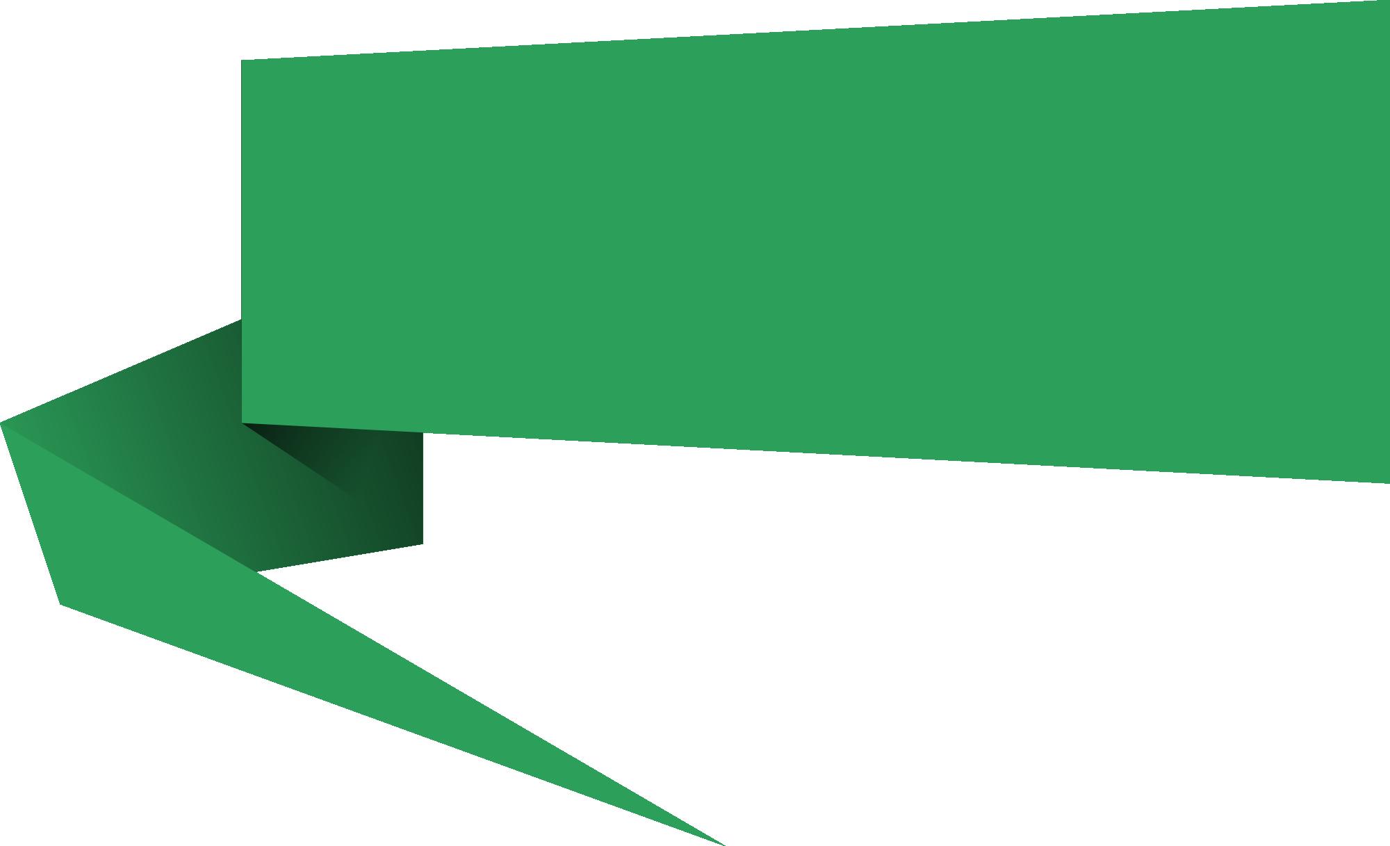 Banner vector png.  origami speech bubble