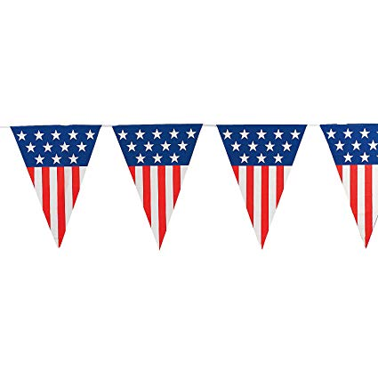 Fun express large patriotic. Banners clipart american flag