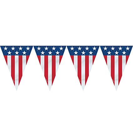 Banners clipart american flag.  ft plastic th