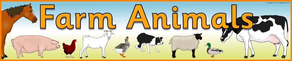 Farm animals primary teaching. Banners clipart animal
