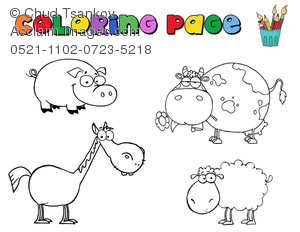 Banners clipart animal. Image of a coloring