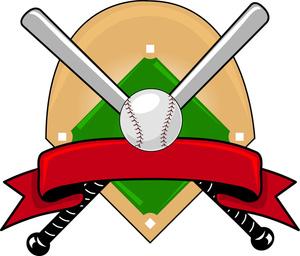 Baseball clipart high school baseball. Image logo with bats