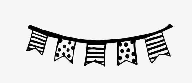 Banners clipart black and white. Flag banner website templates