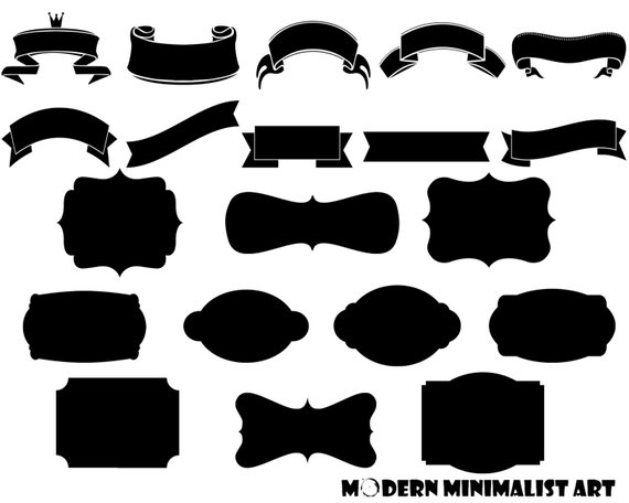 Banners clipart black and white. Frames png images from