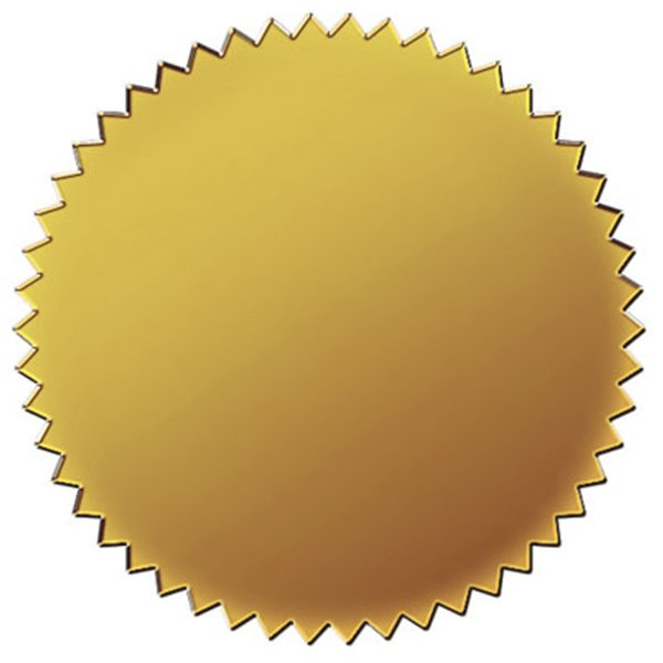 Banners clipart certificate. Gold seal pk if