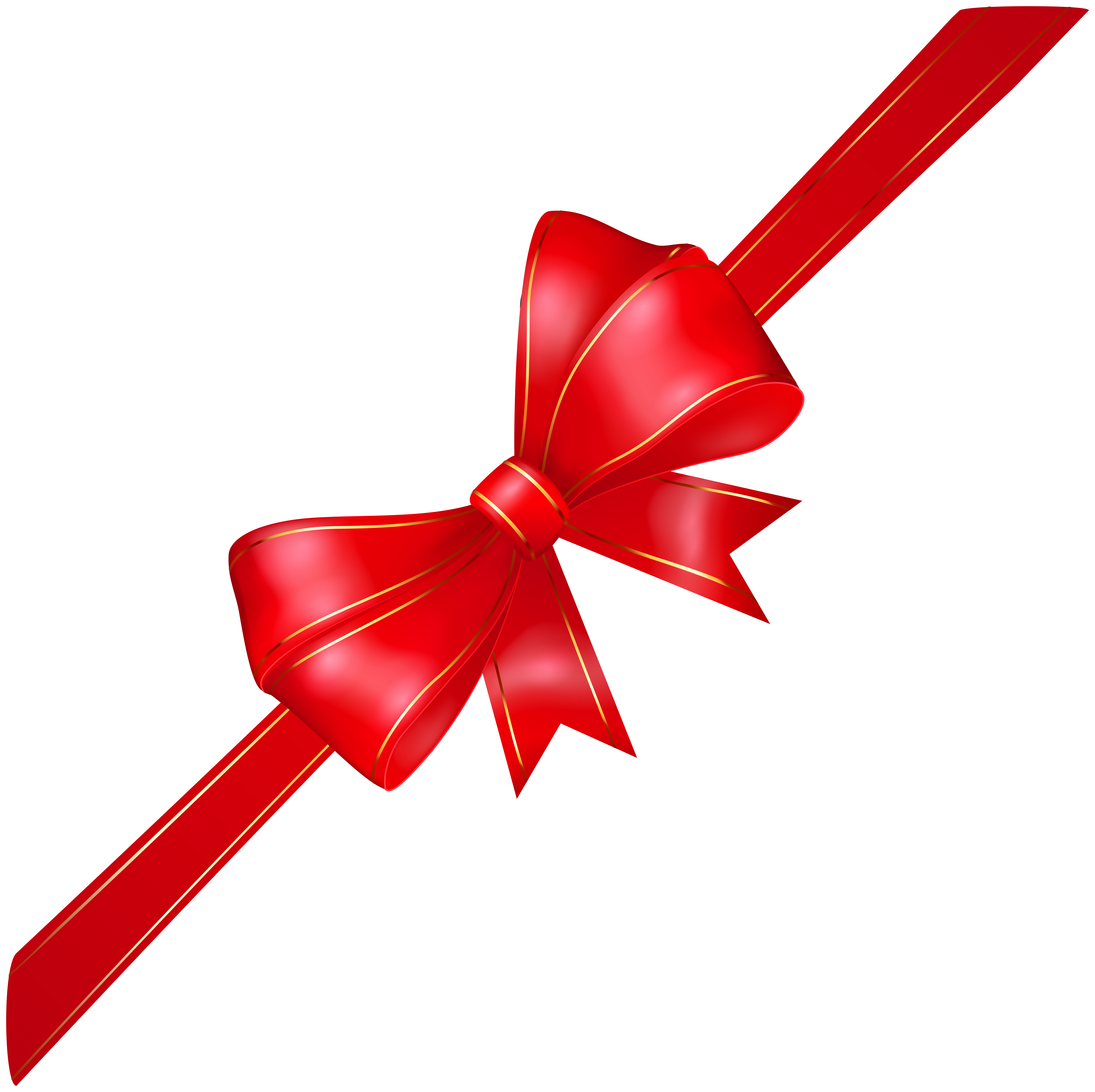 Red transparent png image. Clipart bow corner