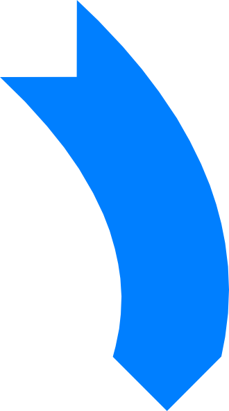 Banners clipart curved. Blue arrow clip art