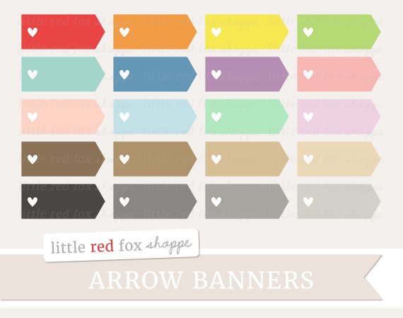 Banners clipart cute. Heart arrow banner label