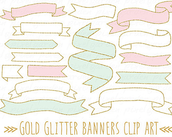 Hand drawn banners clip. Banner clipart doodle
