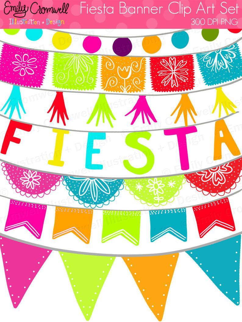Digital mexican cinco de. Banners clipart fiesta