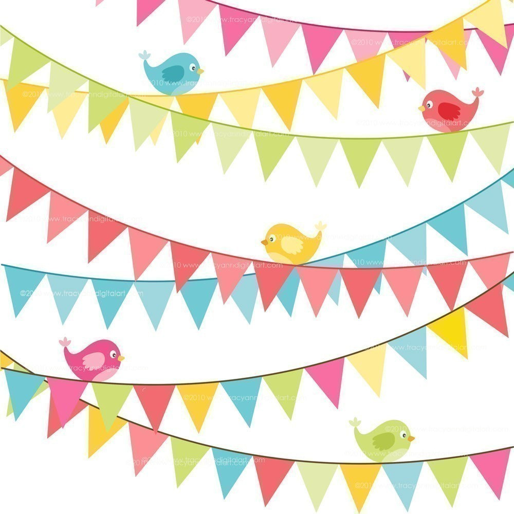 Birthday banner . Banners clipart flag